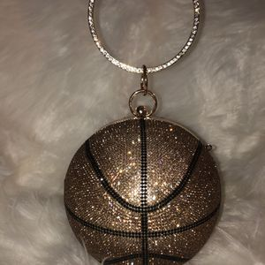 Trendy Rhinestone Basketball Handbag for Sale in Newport News, VA