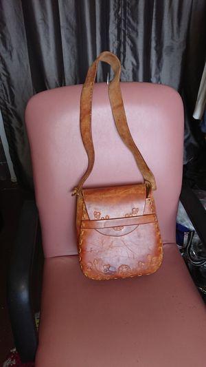 Large bag handtooled leather brown hobo for Sale in Glendale, AZ