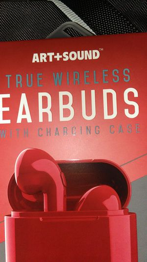 Art + Sound True Wireless Earbuds with Charging case & USB cord Bluetooth headphones for Android or Apple devices for Sale in Chino, CA