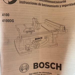Bosch Table Saw for Sale in Tacoma, WA