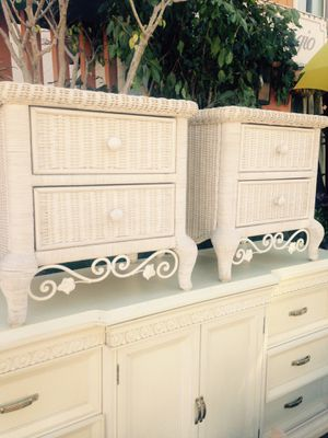 Pair of awesome wicker nightstand for Sale in San Diego, CA