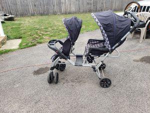 Evenflo Black,Blue & Gray Double Stroller for Sale in North Tonawanda, NY