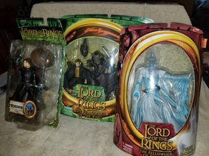3x Lord of the Rings Action Figure Lot all New Old Stock! for Sale in Cuyahoga Falls, OH