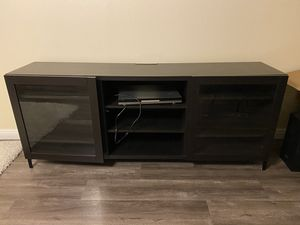 Espresso/Black Entertainment Stand with side mirrors/shelves for Sale in Los Angeles, CA