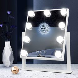 Hollywood Makeup Vanity Mirror with Lights,3 Color Lighting Modes, Cosmetic Mirror with 9 Dimmable Bulbs for Sale in New York,  NY