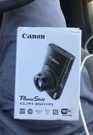 Canon elph 360 hs- used it to take 3 pictures that's it for Sale in Boston, MA