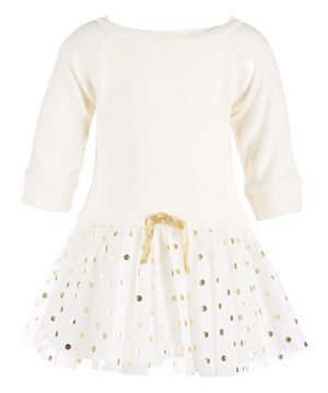 Baby Girl Fleece Tulle-Skirt Dress (18 months- Ivory) for Sale in Nuevo, CA