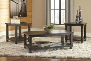 Ashley Furniture Black 3 Pcs Coffee Table and End Table Set for Sale in Santa Ana, CA