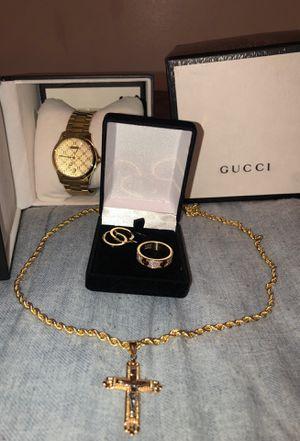 Watch, chain, earrings, ring for Sale in Corona, CA