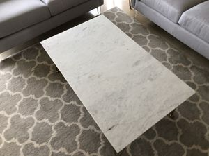 Rectangular coffee table white marble and polished brass by CoasterEssence for Sale in Torrance, CA