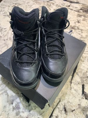 EUC NIKE AIR JORDAN 9 RETRO Black/Black SIZE 2Y for Sale in Washington, DC