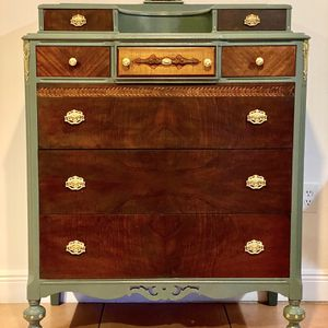 Vintage Red Mahogany Dresser for Sale in Miami, FL