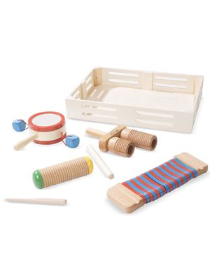 Melissa & Doug Band-in-a-Box Drum! Click! Clack! - 6-Piece Musical Instrument Set for Sale in Vernon, CA