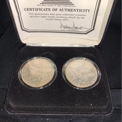 two mint e pluribus enum coins 1921 and 1878 for Sale in West Linn,  OR