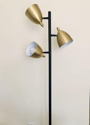 Gold multi-head floor lamp for Sale in San Diego, CA
