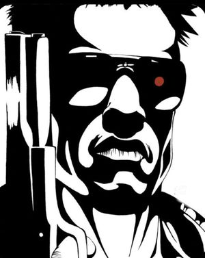 """THE TERMINATOR hand painted acrylic canvas 16""""x20"""" for Sale in Pompano Beach, FL"""