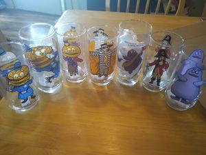7 McDonalds character glasses 1970s-80s? for Sale in Bridgeville, PA