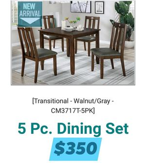 5 PIECES DINING SET INCLUDED TABLE WITH 4 CHAIRS for Sale in Chino, CA