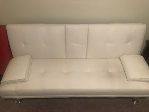white faux leather futon for Sale in Paint Lick, KY