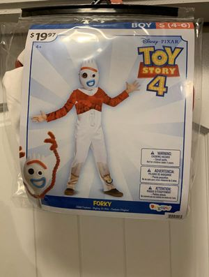 Toy story 4 Forky Costume Halloween kids Small for Sale in Austin, TX