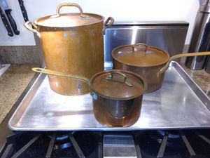 Salvador Firenze Hammered Copper Cookware for Sale in Seattle, WA