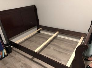 Sleigh full size bed frame for Sale in Midland, TX