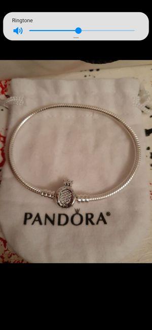 New silver pandora crown charm bracelet for Sale in Philadelphia, PA