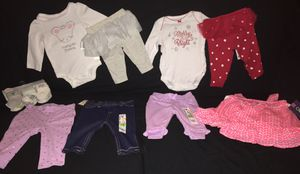 Baby girls size 0-3mo bnwt clothing bundle for Sale in Discovery Bay, CA