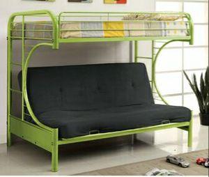 Twin over futon bunk bed NO TWIN MATTRESS JUST FUTON MATTRESS for Sale in Sacramento, CA