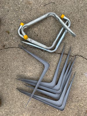 Heavy Ladder Wall Hangers and Wall Shelve Brackets for Sale in Lacey, WA