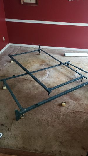 King bed frame with all 8 casters actually twin frames for a king for Sale in Atlanta, GA