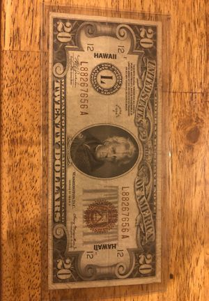 1934A Hawaii Note 20$ Bill for Sale in Kirksville, MO