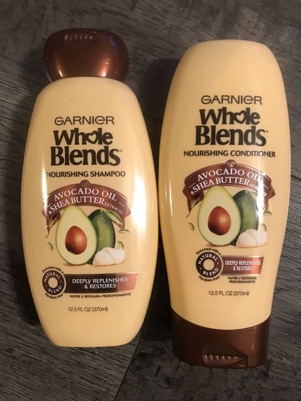 Garnier whole blends avocado oil & Shea butter shampoo and conditioner set