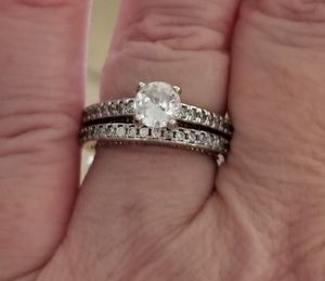 Diamond and cz wedding sets.... Sizes 6 and 7 for Sale in Riverside, CA