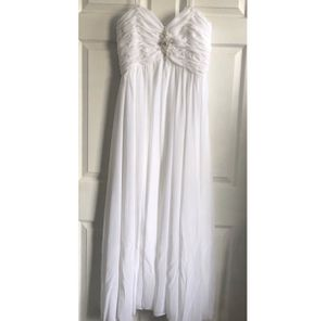 White Long Gown Prom Wedding Party Dress Size 10 for Sale in Palmdale, CA