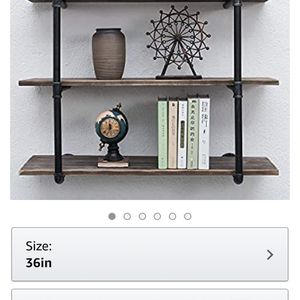 Industrial Pipe Shelving Wall Mounted,36in Rustic Metal Floating Shelve for Sale in Cypress, CA