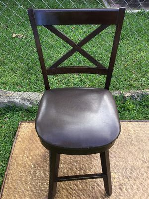 ADULT BAR STOOL SWIVEL BROWN * CHECK ALL PICTURES AND MY OFFERS PLEASE * SERIOUS BUYERS PLEASE for Sale in South Miami, FL