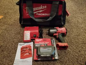 Milwaukee M18 FUEL 18-Volt Lithium-Ion Brushless Cordless 1/2 in. Impact Wrench with Friction Ring Starter Kit for Sale in Modesto, CA