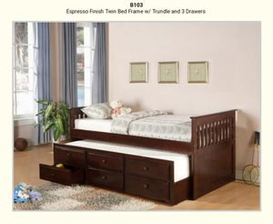Twin Storage bed Espresso Finish for Sale in Puyallup, WA