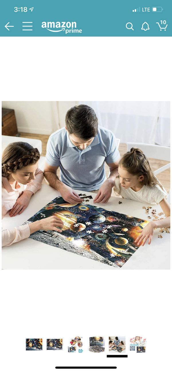 Sweeada Space Puzzle 1000 Piece, Planets in Space and Astronaut Puzzle Games Suitable for Adults and Children. Activities to Help Children Think Abou