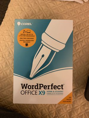 WordPerfect Office X9 home&student for Sale in Denver, CO