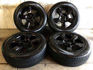"""2018 Chevy Tahoe Suburban Silverado 20"""" FACTORY BLACK Wheels Rims Tires 275/55/20 for Sale in Santa Ana, CA"""