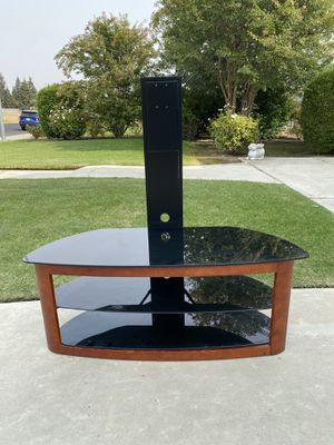 TV Stand Glass and Metal 3 Level TV Stamd for Sale in Clovis, CA
