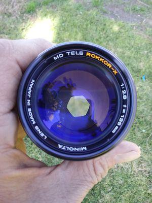 Minolta MD Tele Rokkor-X 1:2.8 135mm Prime PERFECT for Sale in Montclair, CA