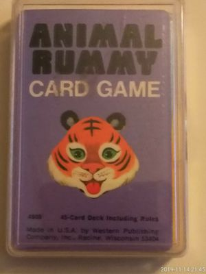 VINTAGE COLLECTIBLE WHITMAN 1960'S ANIMAL RUMMY CARD GAME. for Sale in El Mirage, AZ