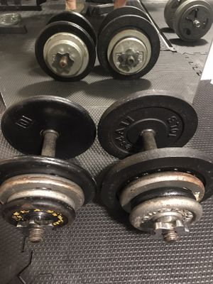 Bowflex Alternative — Pair of Adjustable 45 lbs Dumbbells (90 lbs total) for Sale in Oakland, CA