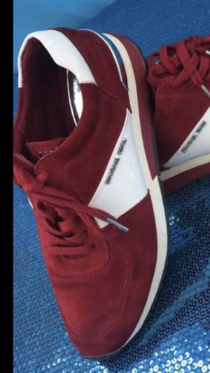 Women's Michael Kors Sneakers Size 9 Fits 91/2. Color Red White & Gold. If You See It Posted, Yes It's Still Available for Sale in South Gate, CA