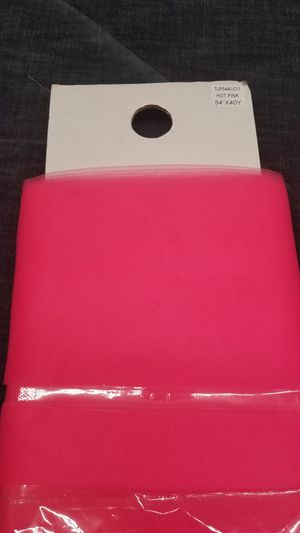 """54"""" Hot pink tulle sold by 40 yards bolt for Sale in Compton, CA"""