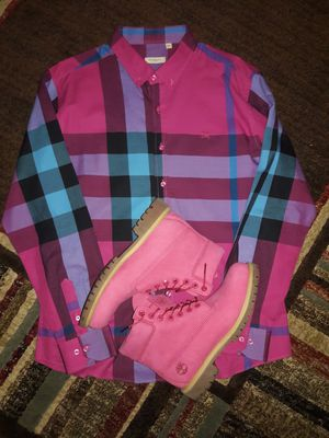 Burberry and timberlands for Sale in Nashville, TN