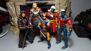 Marvel Legends Xmen Avengers MCU Action Figure Lot - Thor Wolverine Captain Marvel Gambit for Sale in Houston, TX